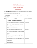 Giáo án Tiếng Anh lớp 8: Unit 9 A first aids courseLesson 1 : Getting started Listen and read