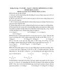Tài liệu Ôn Tập : TN-CĐ-ĐH - Chủ đề 3 : PHƯƠNG TRÌNH ĐỘNG LỰC HỌC, MÔMEN