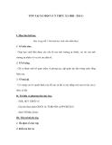 TỒN TẠI XÃ HỘI VÀ Ý THỨC XÃ HỘI (Tiết 1)