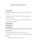 KIỂM TRA MỘT TIẾT – GDCD 10
