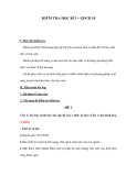 KIỂM TRA HỌC KÌ I – GDCD 10