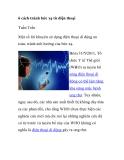 6 cách tránh bức xạ từ điện thoại Tuấn