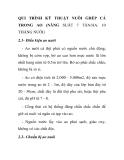 QUI TRÌNH KỸ THUẬT NUÔI GHÉP CÁ TRONG AO (NĂNG SUẤT 7 TẤN/HA. 10 THÁNG NUÔI)