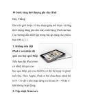 10 bước tăng thời lượng pin cho iPad