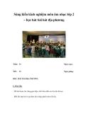 Sáng kiến kinh nghiệm môn âm nhạc lớp 2 – học hát bài hát địa phương