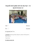 Sáng kiến kinh nghiệm môn âm nhạc lớp 2 – ôn tập hát bài múa vui