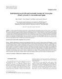 "Báo cáo lâm nghiệp:""Individual-tree growth and mortality models for Scots pine (Pinus sylvestris L.) in north-east Spain"""