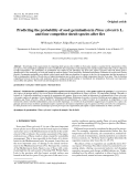 "Báo cáo lâm nghiệp:""Predicting the probability of seed germination in Pinus sylvestris L. and four competitor shrub species after fire"""