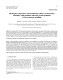"""Báo cáo lâm nghiệp:""""Daylength, temperature and fertilization effects on desiccation resistance, cold hardiness and root growth potential of Picea mariana seedlings"""""""