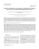 """Báo cáo lâm nghiệp:"""" Dynamics of litterfall in a chronosequence of Douglas-fir (Pseudotsuga menziesii Franco) stands in the Beaujolais mounts (France)"""""""