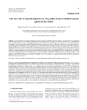 """Báo cáo lâm nghiệp:"""" The key-role of topsoil moisture on CO2 efflux from a Mediterranean Quercus ilex forest"""""""