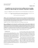 "Báo cáo lâm nghiệp:""Competition for water between beech seedlings and surrounding vegetation in different light and vegetation composition conditions"""