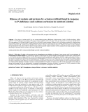 "Báo cáo lâm nghiệp: "" Release of oxalate and protons by ectomycorrhizal fungi in response to P-deficiency and calcium carbonate in nutrient solution"""