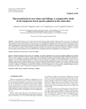 """Báo cáo lâm nghiệp: """"Macronutrients in tree stems and foliage: a comparative study of six temperate forest species planted at the same sites"""""""