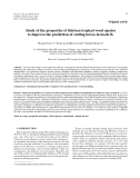 """Báo cáo lâm nghiệp: """"Study of the properties of thirteen tropical wood species to improve the prediction of cutting forces in mode B"""""""