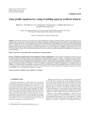 """Báo cáo lâm nghiệp: """"Stem profile equations for young trembling aspen in northern Ontario"""""""
