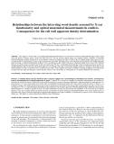 """Báo cáo lâm nghiệp: """"Relationships between the intra-ring wood density assessed by X-ray densitometry and optical anatomical measurements in conifers. Consequences for the cell wall apparent density determination"""""""