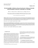 """Báo cáo lâm nghiệp: """"On the durability of Burkea africana heartwood: evidence of biocidal and hydrophobic properties responsible for durability"""""""