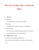 Giáo án Toán 12 ban cơ bản : Tên bài dạy : BÀI TẬP VỀ CỘNG, TRỪ VÀ NHÂN SỐ PHỨC