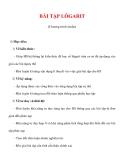 Giáo án Toán 12 ban cơ bản : Tên bài dạy : BÀI TẬP LÔGARIT