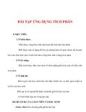 Giáo án Toán 12 ban cơ bản : Tên bài dạy : BÀI TẬP ỨNG DỤNG TÍCH PHÂN