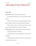 Giáo án Toán 12 ban cơ bản : Tên bài dạy : KHÁI NIỆM VỀ MẶT TRÒN XOAY.