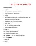 Giáo án Toán 12 ban cơ bản : Tên bài dạy : BÀI TẬP PHẦN NGUYÊN HÀM