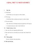 Giáo án Toán 12 ban cơ bản : Tên bài dạy : CỘNG, TRỪ VÀ NHÂN SỐ PHỨC