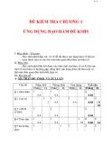 Giáo án Toán 12 ban cơ bản : Tên bài dạy : ĐỀ KIỂM TRA CHƯƠNG 1 ỨNG DỤNG ĐẠO HÀM ĐỂ KSHS