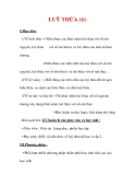Giáo án Toán 12 ban cơ bản : Tên bài dạy : LUỸ THỪA (tt)