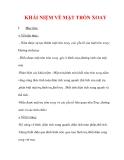 Giáo án Toán 12 ban cơ bản : Tên bài dạy : KHÁI NIỆM VỀ MẶT TRÒN XOAY