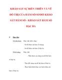 Giáo án Toán 12 ban cơ bản : Tên bài dạy : KHẢO SÁT SỰ BIẾN THIÊN VÀ VẼ ĐỒ THỊ CỦA HÀM SỐ SƠ ĐỒ KHẢO SÁT HÀM SỐ - KHẢO SÁT HÀM SỐ BẬC BA