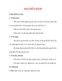 Giáo án Toán 12 ban cơ bản : Tên bài dạy : NGUYÊN HÀM
