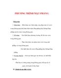 Giáo án Toán 12 ban cơ bản : Tên bài dạy : PHƯƠNG TRÌNH MẶT PHẲNG