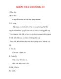 Giáo án Giải tích 12 ban tự nhiên : Tên bài dạy : KIỂM TRA CHƯƠNG III