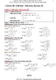 Chuyên đề: Giới hạn – Đạo hàm của hàm số