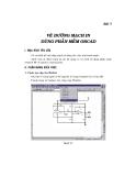 phân tich thiết kế đường mạch in bằng phần mềm Orcad