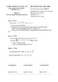 Đề thi học phần toán cao cấp 3 -2
