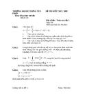 Đề thi toán cao cấp 3 trường ĐHSPKT Hưng Yên - đề số 5