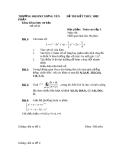 Đề thi học phần toán cao cấp 3 - 6