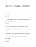 ĐỊNH LUẬT BOYLE – MARIOTTE