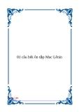 81 câu hỏi ôn tập Mac Lênin
