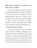 BIỆN PHÁP GIẢI QUYẾT CÁ GIỐNG VÀ KỸ THUẬT THẢ CÁ GIỐNG