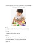 Sáng kiến kinh nghiệm môn toán mẫu giáo 4-5 tuổi – bài 10 dạy trẻ nhận biết điểm đúng các nhóm có 3 đối tượng