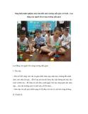 Sáng kiến kinh nghiệm môn tìm hiểu môi trường mẫu giáo 4-5 tuổi – Lao động của người lớn trong trường mẫu giáo