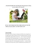 """Sáng kiến kinh nghiệm Một số biện pháp phát triển ngôn ngữ cho trẻ thông qua hoạt động tạo môi trừơng chữ""""."""
