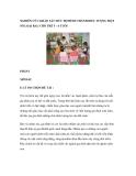 NGHIÊN CỨU KHẢO SÁT MỨC ĐỘ HÌNH THÀNH BIỂU TƯỢNG MỘT SỐ LOẠI RAU CHO TRẺ 5 – 6 TUỔI