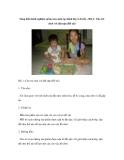 Sáng kiến kinh nghiệm mầm non môn tạo hình lớp 3-4 tuổi – Bài 1: Cho trẻ chơi với đất nặn (Đề tài)