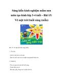 Sáng kiến kinh nghiệm mầm non môn tạo hình lớp 3-4 tuổi – Bài 15: Vẽ mặt trời buổi sáng (mẫu)