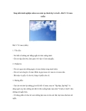 Sáng kiến kinh nghiệm mầm non môn tạo hình lớp 3-4 tuổi – Bài 9: Vẽ mưa (mẫu)